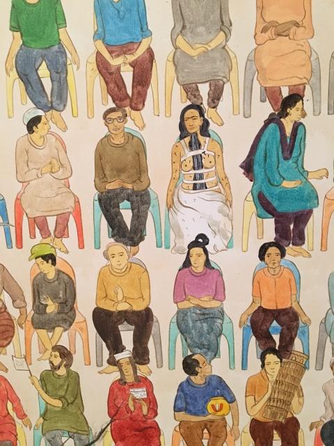 カレー屋ムルギーからの「N・S・ハルシャ展:チャーミングな旅」展