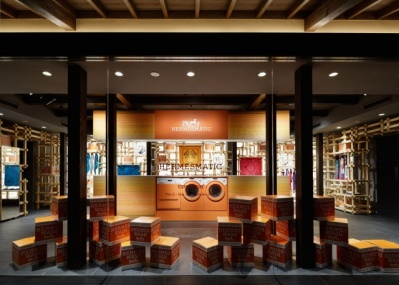 エルメス、スカーフ、ビンテージ加工、京都・祇園での製品染めサービスの妙。