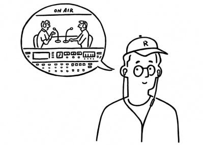 大人気アプリ「ラジコ」とイラストレーター長場雄が、 梅田 蔦屋書店から「ラジオのある生活」を提案します!